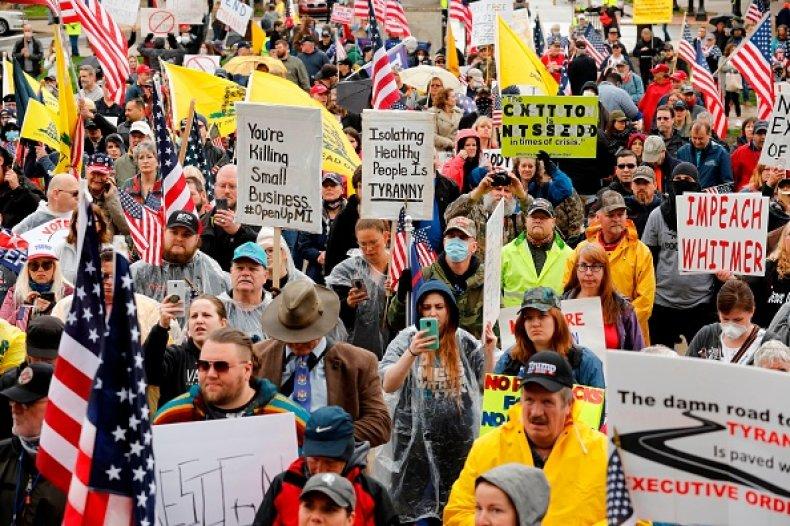Michigan protest american patriot rally