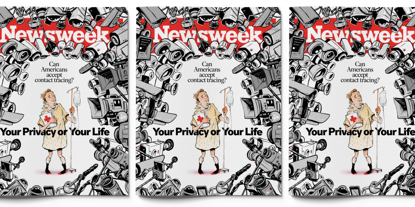 lockdown privacy google apple Newsweek cover smartphone