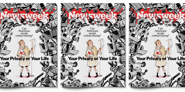 lockdown privacy google apple Newsweek cover smartphone