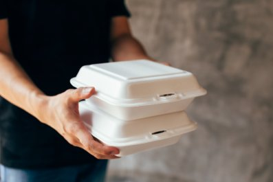 food box stock photo