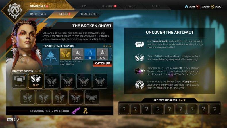 apex legends season 5 quests