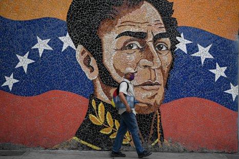 Mural of Simon Bolivar in Caracas