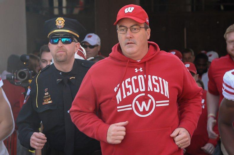 Wisconsin Football Coach Paul Chryst