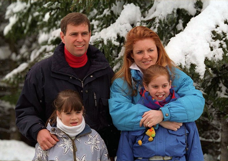 Prince Andrew and Sarah Ferguson in Verbier