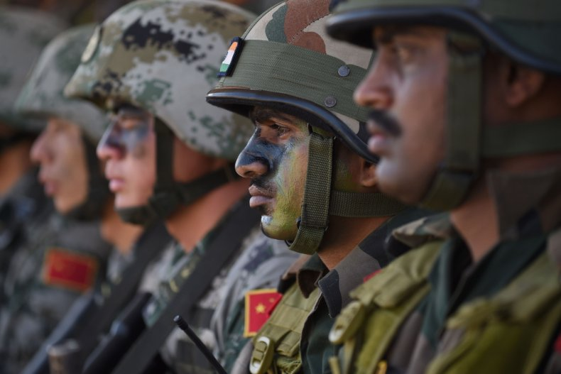 China, India, soldiers, brawl, border, dispute, fight
