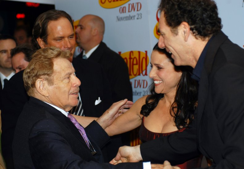 Jerry Stiller, Julia Louis-Dreyfus and Michael Richards