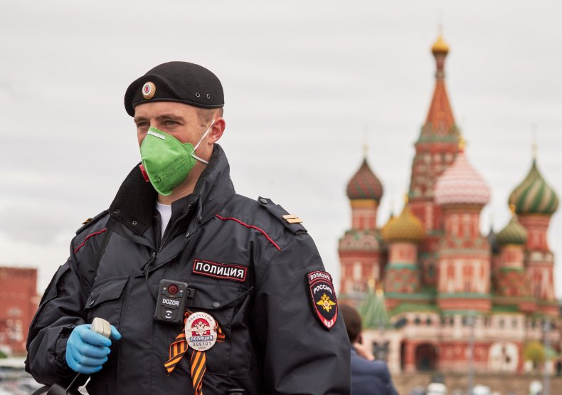 Moscow, Russia, coronavirus, police, May 2020