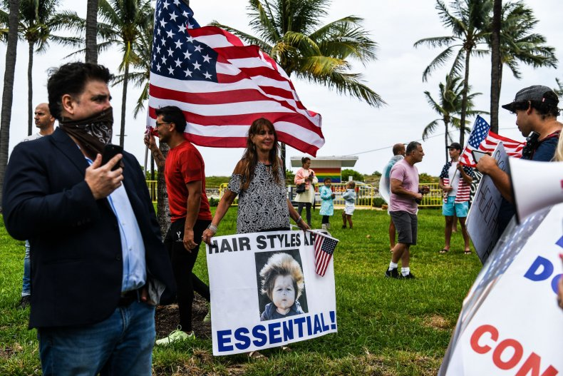 South Beach Miami Closure Protest