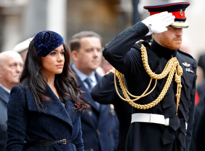 Prince Harry and Meghan Markle Remembrance