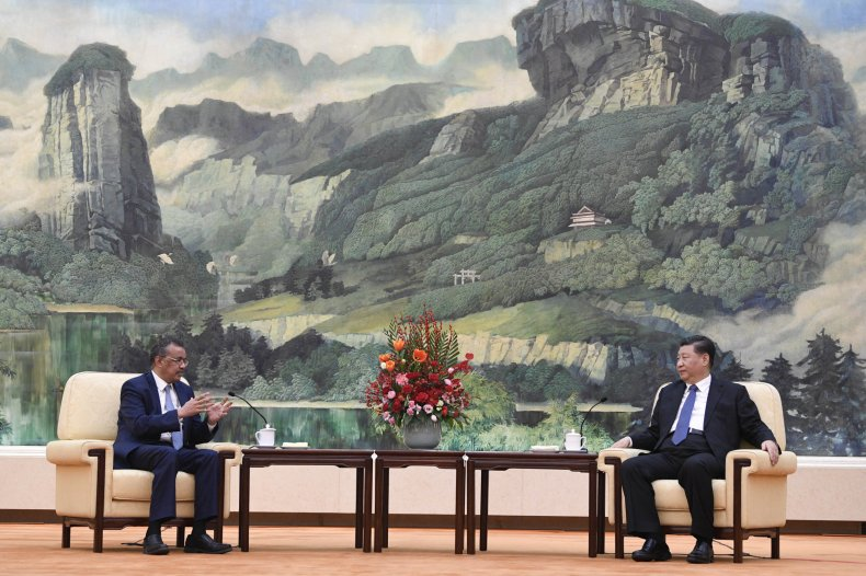 who, tedros, xi, jinping, china, meeting
