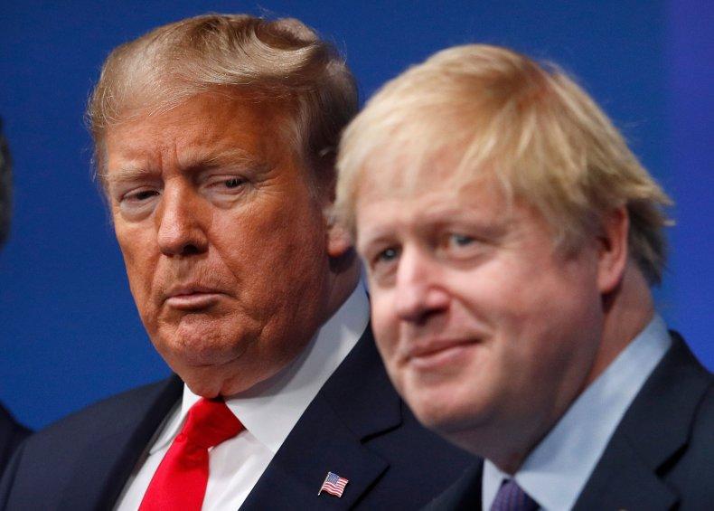 UK PM Boris Johnson, Donald Trump