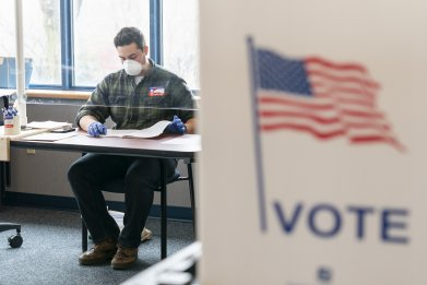 national guard member wisconsin election coronavirus