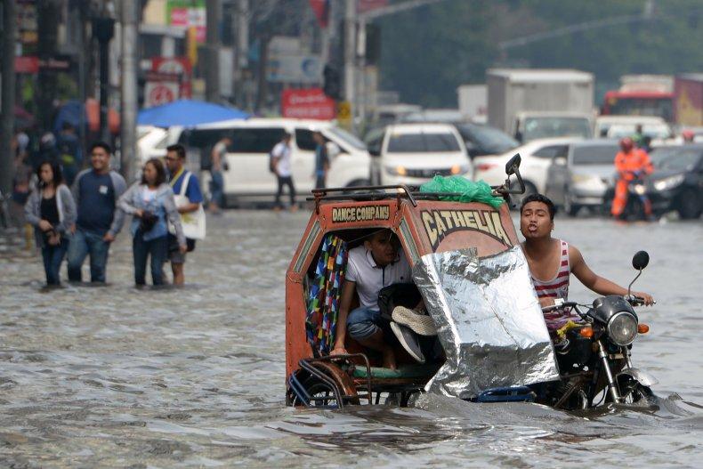 Manila, Philippines, monsoon, flooding, rain