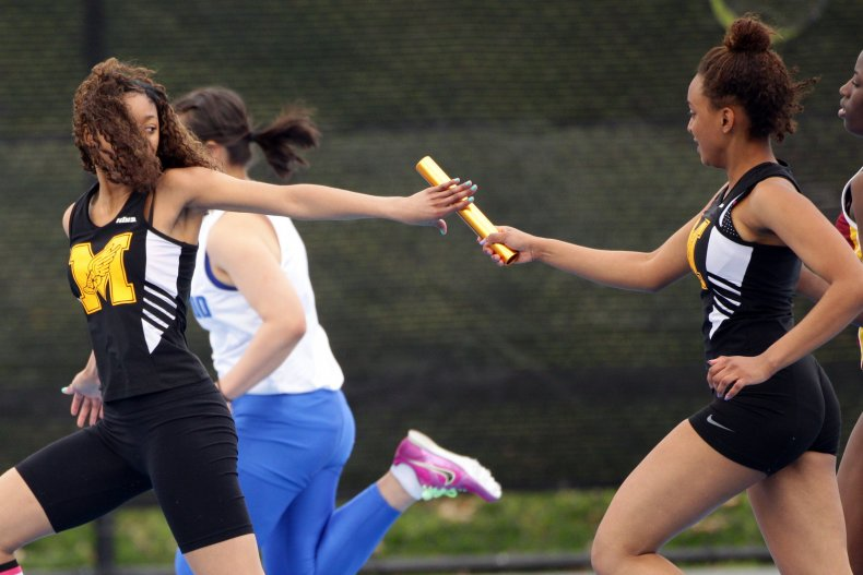 Female track and field athletes