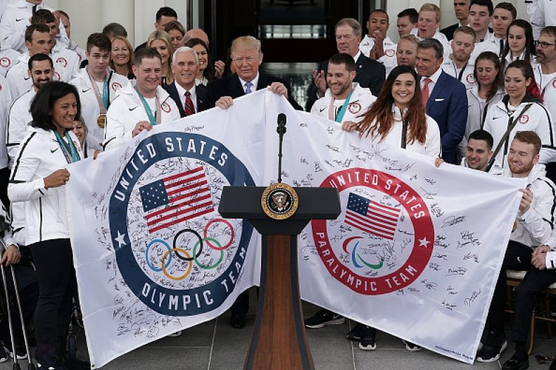 President Trump and Winter Olympians