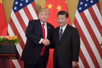 President Donald Trump with Xi Jinping