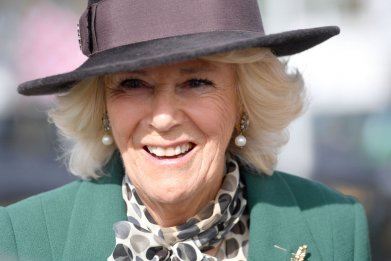 Camilla, Duchess of Cornwall, at Cheltenham Festival