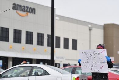 Protest at Amazon Warehouse