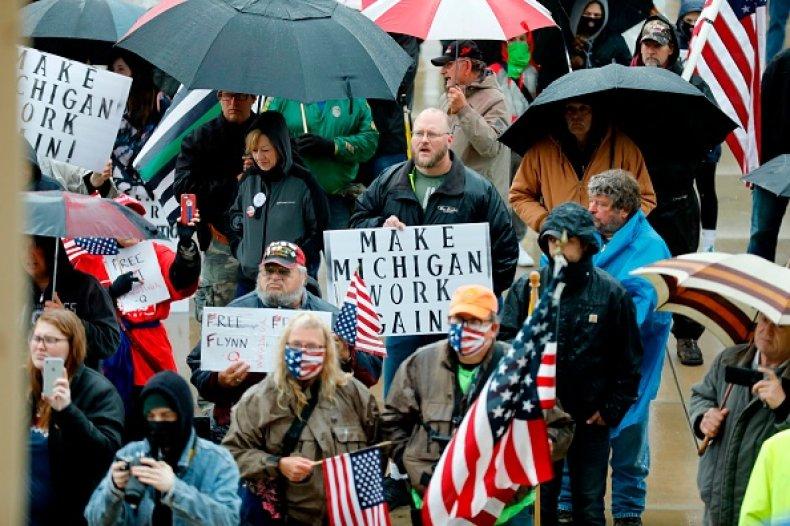 Michigan protestors May 14