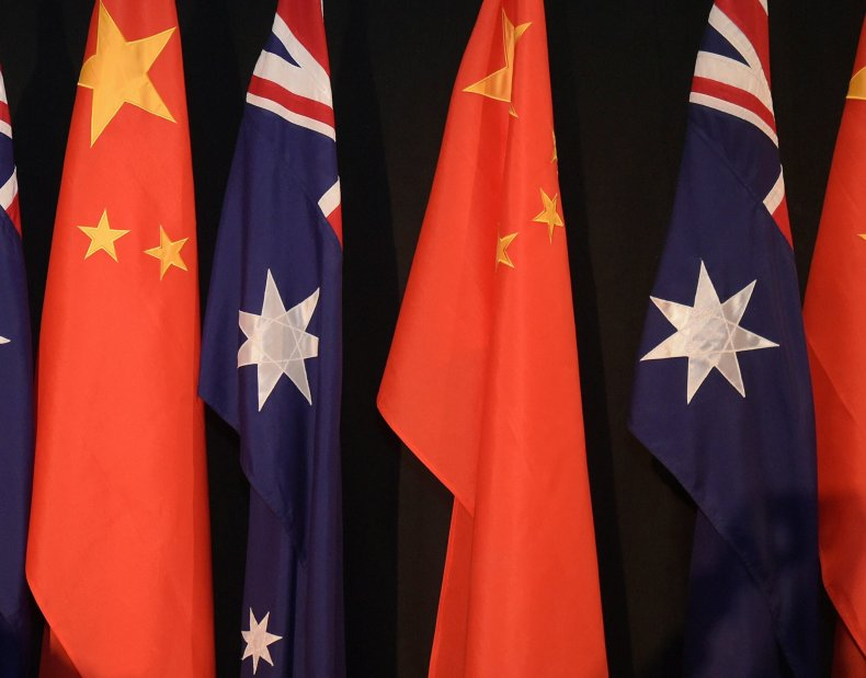 China and Australian flags