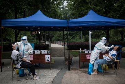 WUHAN, CHINA, Coronavirus swab tests