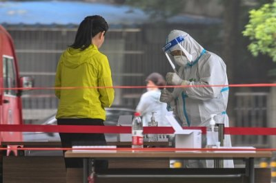 WUHAN, CHINA, Coronavirus swab test