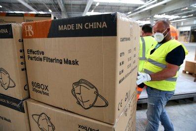 China, coronavirus, masks, France, EU, Europe, diplomacy