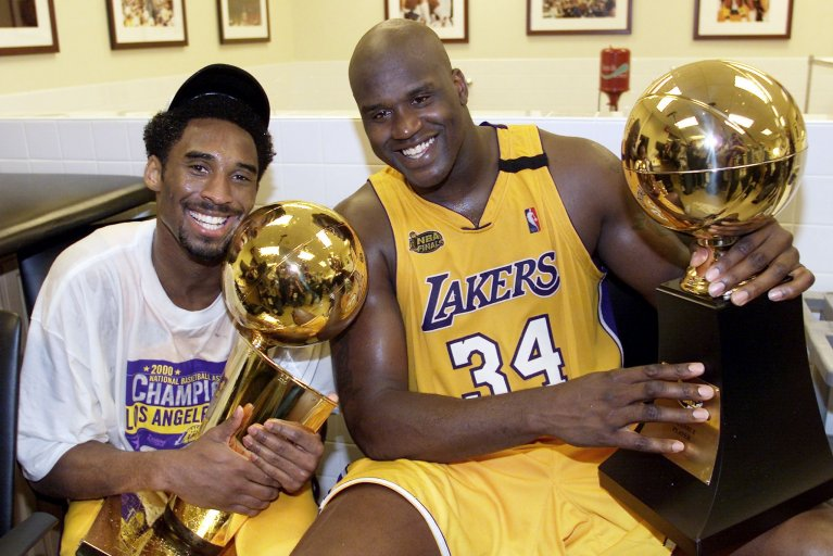 Kobe Bryant, Shaquille O'Neal, Los Angeles Lakers