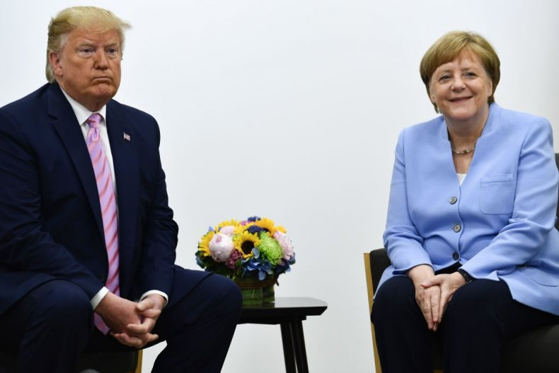 Donald Trump and German Chancellor Angela Merkel