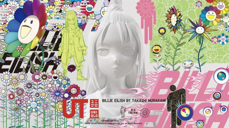Uniqlo Billie Eilish Takashi Murakami