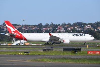 Qantas Plane at Sydney Airport