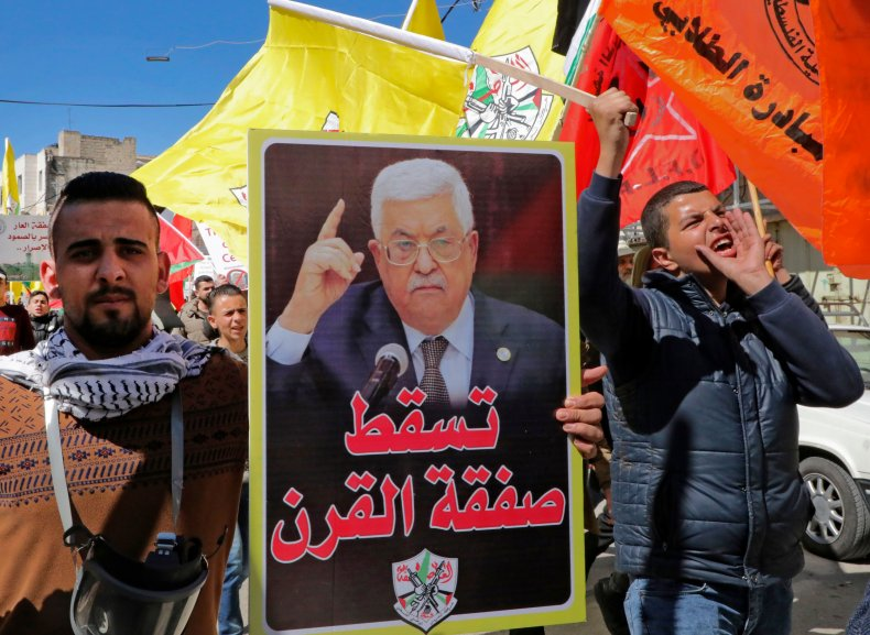 PALESTINIAN PRESIDENT ANNOUNCES EXIT FROM ALL AGREEMENTS WITH U.S. AND ISRAEL OVER 'DEAL OF THE CENTURY'