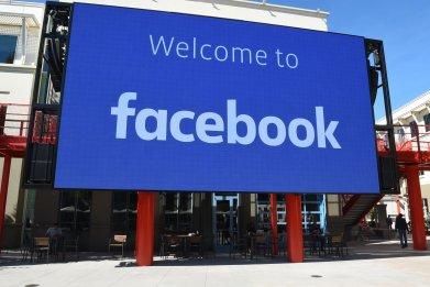 Facebook corporate headquarters in California