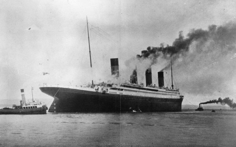 Titanic, during trials in Belfast