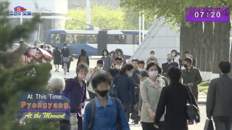 north, korea, pyongyang, capital, commute, coronavirus, masks