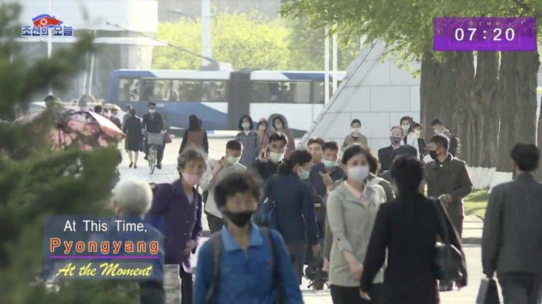 north, korea, pyongyang, capital, commute, coronavirus, masks