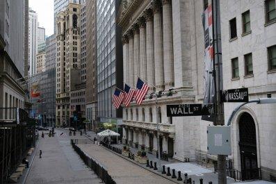 Wall Street during coronavirus