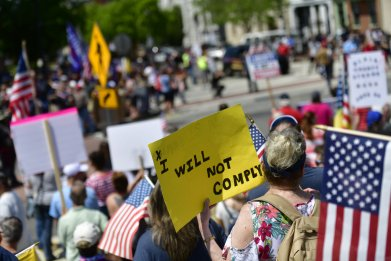 Protestor Lockdown