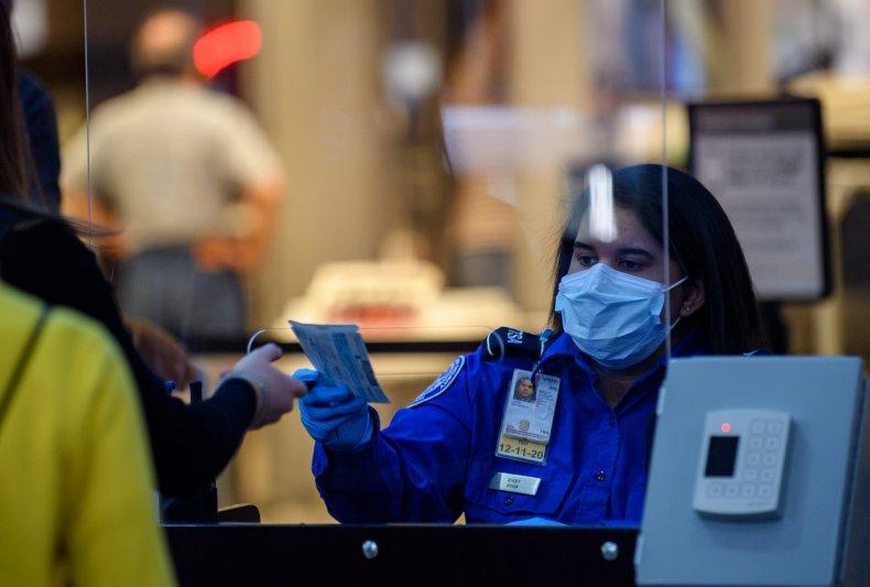 TSA worker, Pittsburgh International Airport, May 2020