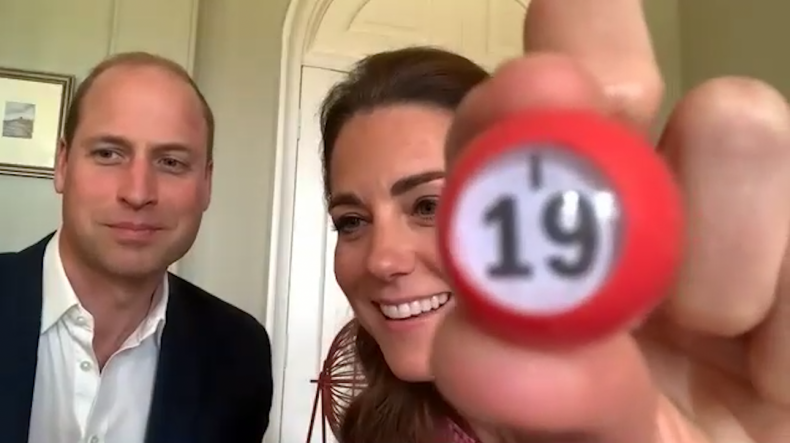 Prince William and Kate Middleton Call Bingo