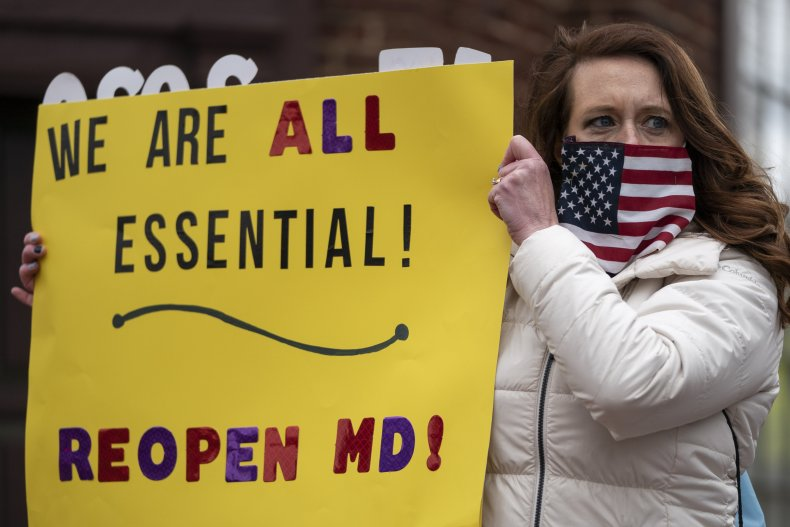 Protesters Call On Maryland Government To End Economic Shutdown