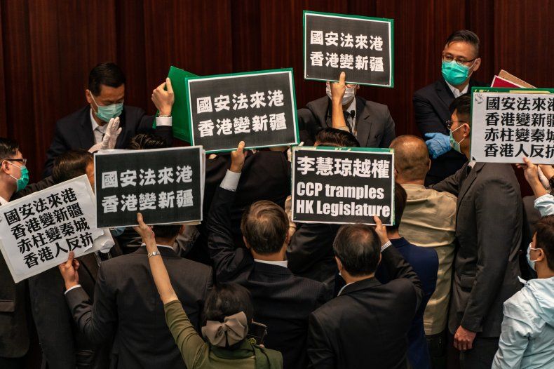 Hong Kong, protest, China, LegCo, lawmakers, US