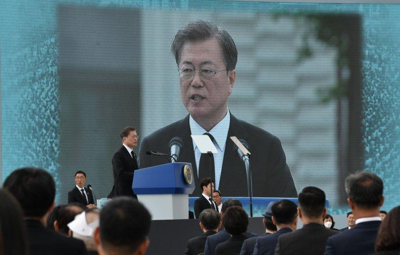 Moon Jae-in, Gwangju, South Korea, May 2020