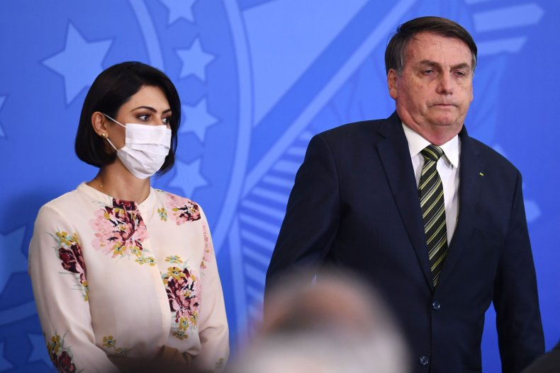 Jair Bolsonaro, wife Michelle, Brazil, April 2020