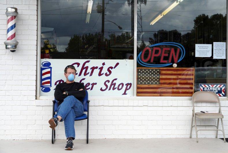 georgia reopens economy barber shop