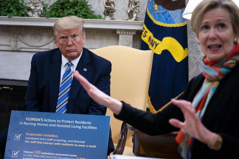 President Donald Trump with Deborah Birx