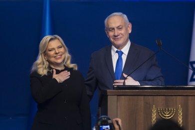 Israeli Prime Minister Benjamin Netanyahu with wife