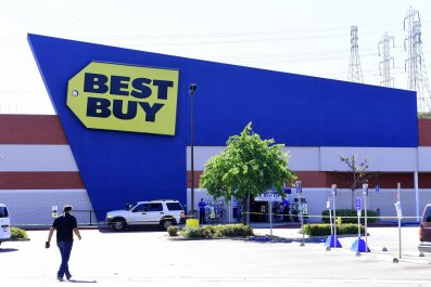 Best Buy store in Montebello, California pictured on April 15, 2020