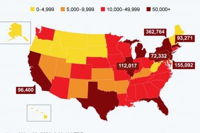 The spread of COVID-19 across the U.S.