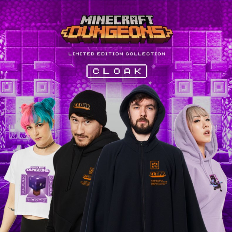 CLOAK Clothing Announces Their New 'Minecraft Dungeons' Line With Limited Drop